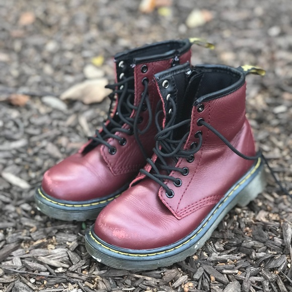 Dr. Martens Shoes | Cherry Red Kids Dr